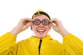Человек в желтом костюме — Стоковое фото