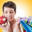 Girl after the shopping spree — Stock Photo #65641507