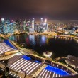 Panorama of Singapore skyline downtown — Stock Photo #65643511