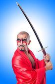 Guerra hombre con espada — Foto de Stock