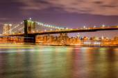 Night panorama of Manhattan in New York, USA — Stock Photo