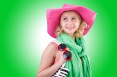 Girl preparing for vacation — Stock Photo