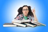 Студент, подготовки к экзаменам — Стоковое фото