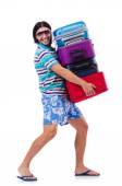 Man travelling with suitcases — Stock Photo