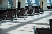 Chairs in the airport — Stock Photo