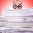 Funny man with lots of folders — Stock Photo #67116387