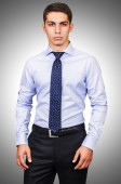 Male model with shirt — Stock Photo