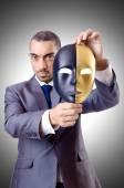деловой человек с маской — Стоковое фото