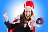 Woman queen in funny — Stock Photo