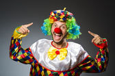 Funny clown in costume — Stock Photo