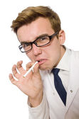 Funny doctor on white — Stock Photo