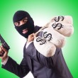 Gangster with bags of money — Stock Photo #67147419