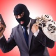 Gangster with bags of money — Stock Photo #67147435