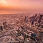 Panorama of night Dubai — Stock Photo #68048039