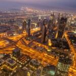 Panorama of night Dubai — Stock Photo #68048233