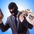Gangster with bags of money — Stock Photo #68049205