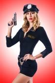 Young woman police — Stock Photo