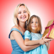 Happy mom and daughter — Stock Photo #69138807