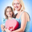 Happy mom and daughter — Stock Photo #69139455