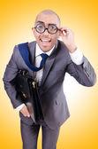 Funny nerd businessman — Stock Photo
