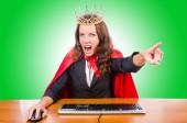Businesswoman Office queen — Stock Photo