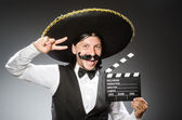 Mexican man wears sombrero — Stock Photo