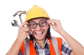Funny construction worker — Stock Photo