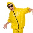 Young performer in yellow suit — Stock Photo #69167111