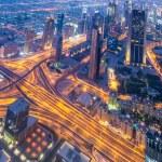 Panorama of night Dubai — Stock Photo #69167401
