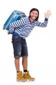 Man in travel concept — Стоковое фото