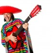 Mexican in vivid poncho — Stock Photo #70336681
