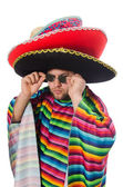Funny mexican holding pistol — Stock Photo