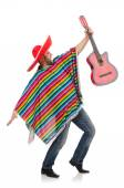 Funny mexican with guitar — Stock Photo