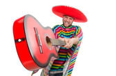 Funny mexican with guitar — ストック写真