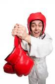 Man boxer isolated on white — Foto de Stock