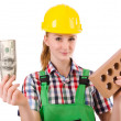 Female handyman in overalls — Stock Photo #71616603