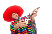 Funny mexican on white — Stock Photo