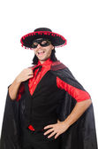 Young man in carnival coat — Stock Photo