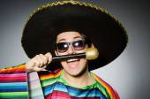 Funny mexican singing in karaoke — Stock Photo