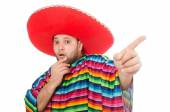 Funny mexican isolated on white — Stock Photo