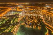 Panorama of night Dubai — Foto Stock