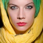 Woman wearing headscarf — Stock Photo #74806459