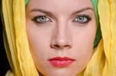 Woman wearing headscarf — Stock Photo