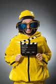Man wearing yellow suit — Stock Photo