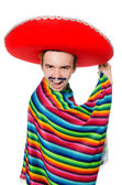 Funny mexican with false moustache — Stock Photo