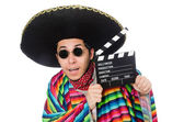 Funny mexican in poncho — Stock Photo