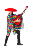 Mexican in vivid poncho — Stock Photo