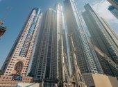 Dubai marina distriktet — Stockfoto