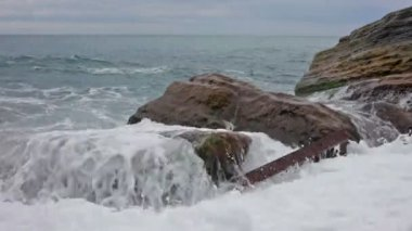 Beach on the Ligurian Sea — Stock Video