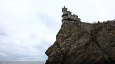 Castle Swallow's Nest near Yalta — Stock Video